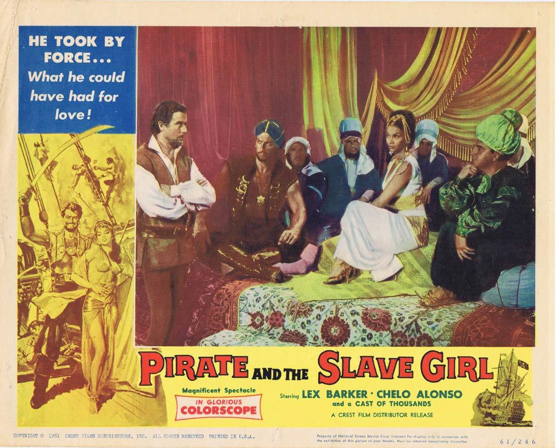 PIRATE AND THE SLAVE GIRL Lobby Card 6 Chelo Alonso Lex Barker