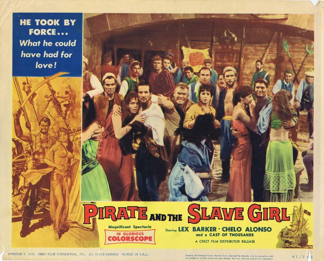 PIRATE AND THE SLAVE GIRL Lobby Card 7 Chelo Alonso Lex Barker