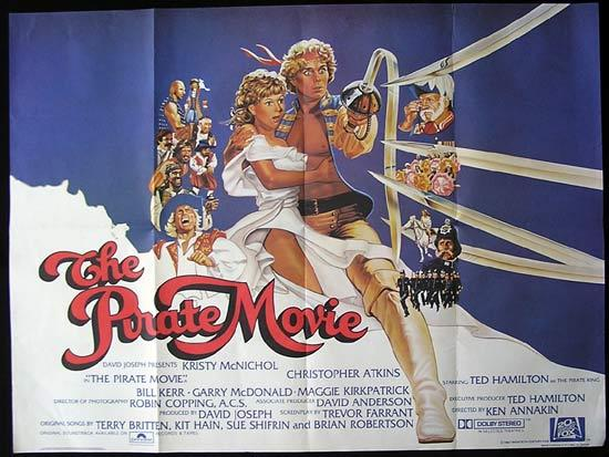 THE PIRATE MOVIE 1982 Christopher Atkins British Quad Movie poster