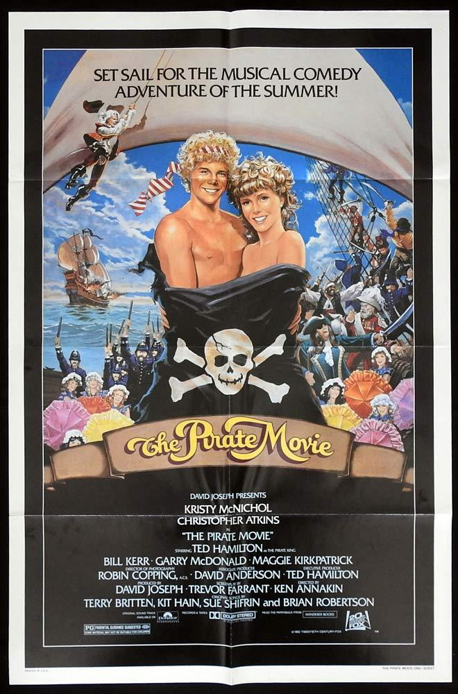 THE PIRATE MOVIE US One sheet Movie Poster Kristy McNichol Christopher Atkins