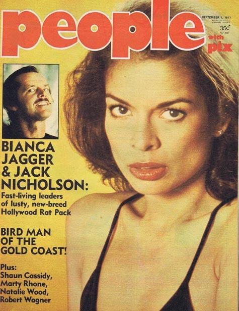 PEOPLE with PIX Australian Magazine Sep 1 1977 Jack Nicholson Bianca Jagger
