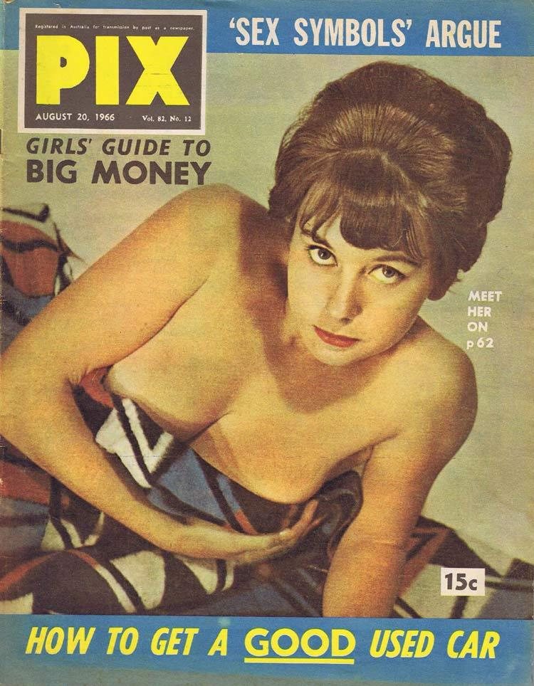 PIX Magazine Aug 20 1966 Sex Symbols Used Cars Make Big Money