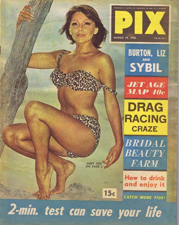 PIX Magazine Mar 19 1966 Drag Racing Elizabeth Taylor Jet Age