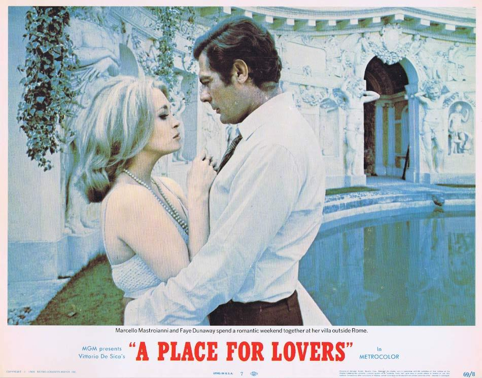 A PLACE FOR LOVERS Lobby Card 7 Marcello Mastroianni Faye Dunaway