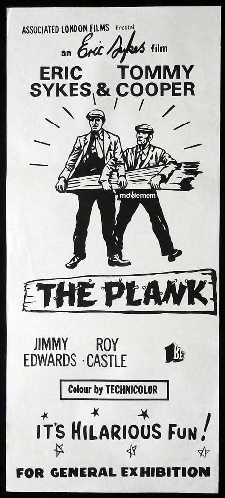 THE PLANK Original daybill Movie poster TOMMY COOPER Eric Sykes Arthur Lowe