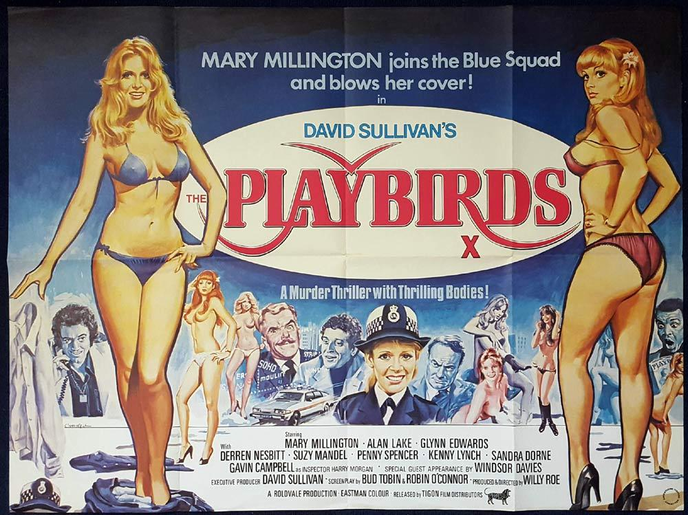 THE PLAYBIRDS British Quad Movie poster TOM CHANTRELL artwork