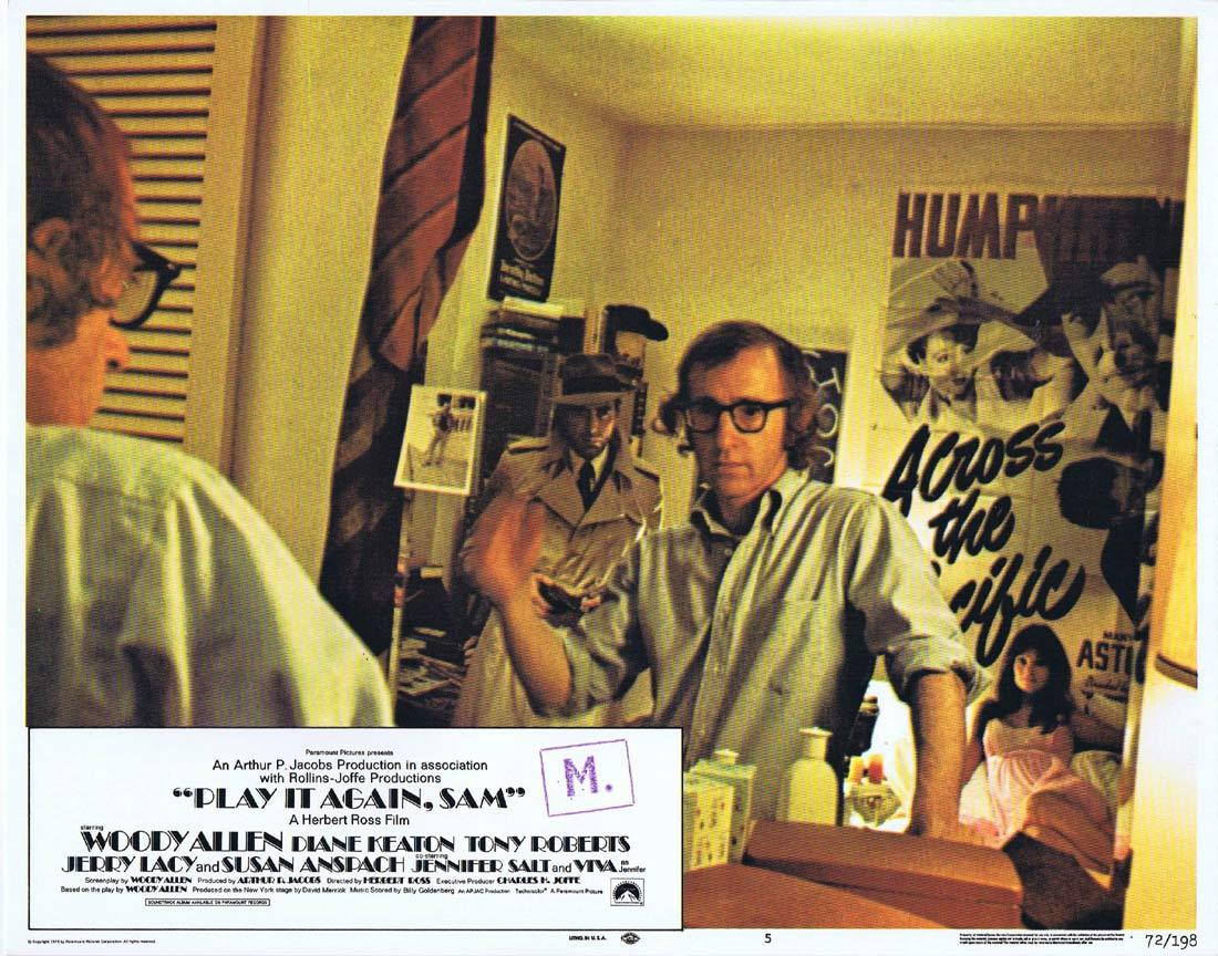 PLAY IT AGAIN SAM Original Lobby Card 5 Woody Allen Diane Keaton