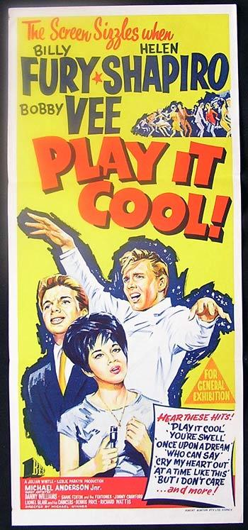 PLAY IT COOL Original daybill movie poster Billy Fury Helen Shapiro
