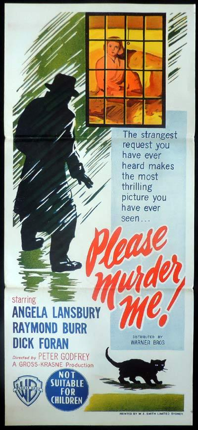 PLEASE MURDER ME Daybill Movie poster Angela Lansbury Film Noir