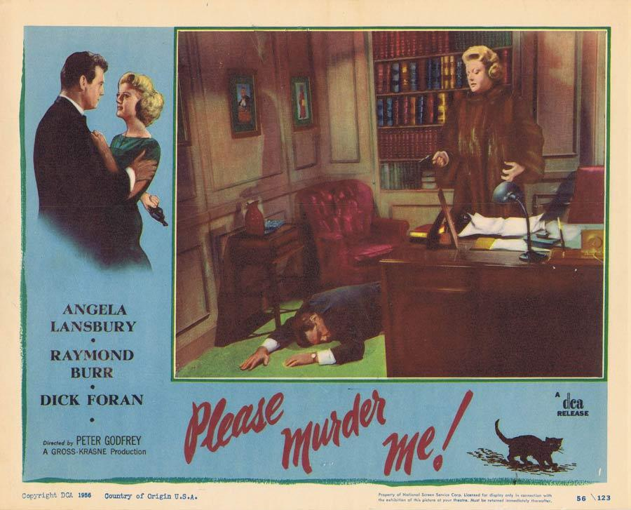 PLEASE MURDER ME Lobby Card 1 Angela Lansbury Film Noir