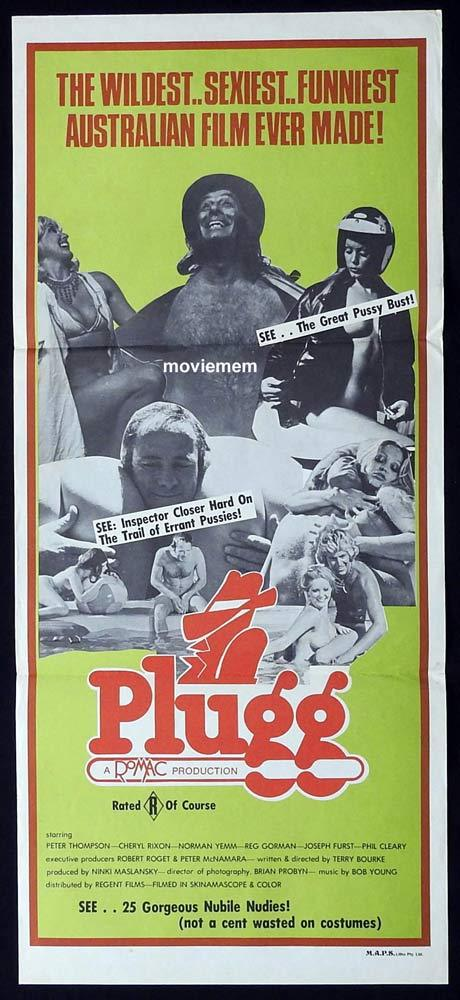 PLUGG Original daybill movie poster 1975 Cheryl Rixon Australian