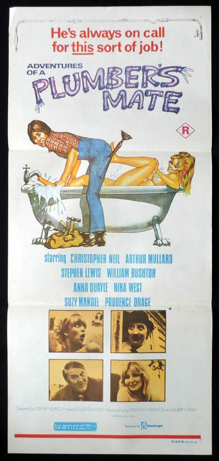 ADVENTURES OF A PLUMBER'S MATE Daybill Movie poster Frankie Howerd British Comedy
