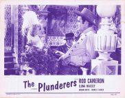 THE PLUNDERERS Original 1954r Lobby Card Rod Cameron Ilona Massey Lorna Gray