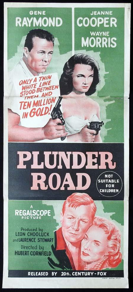 PLUNDER ROAD Original Daybill Movie Poster Gene Raymond Jeanne Cooper