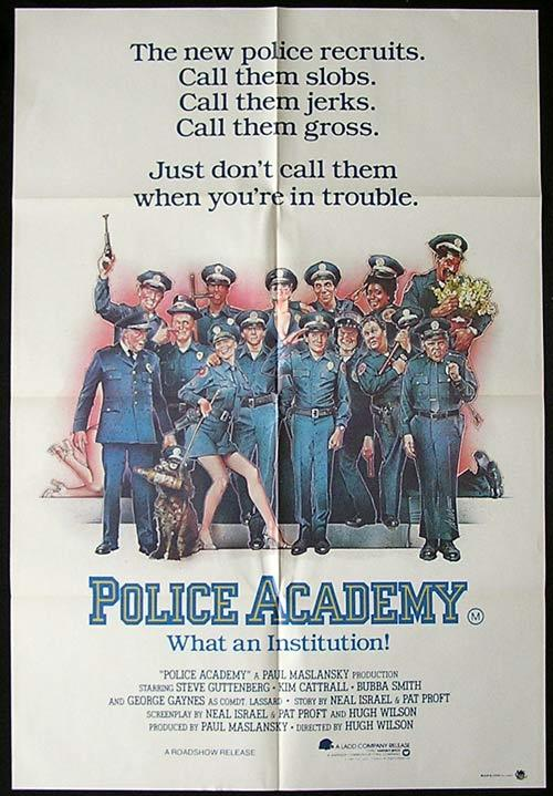 POLICE ACADEMY One sheet Movie poster Drew Struzan artwork
