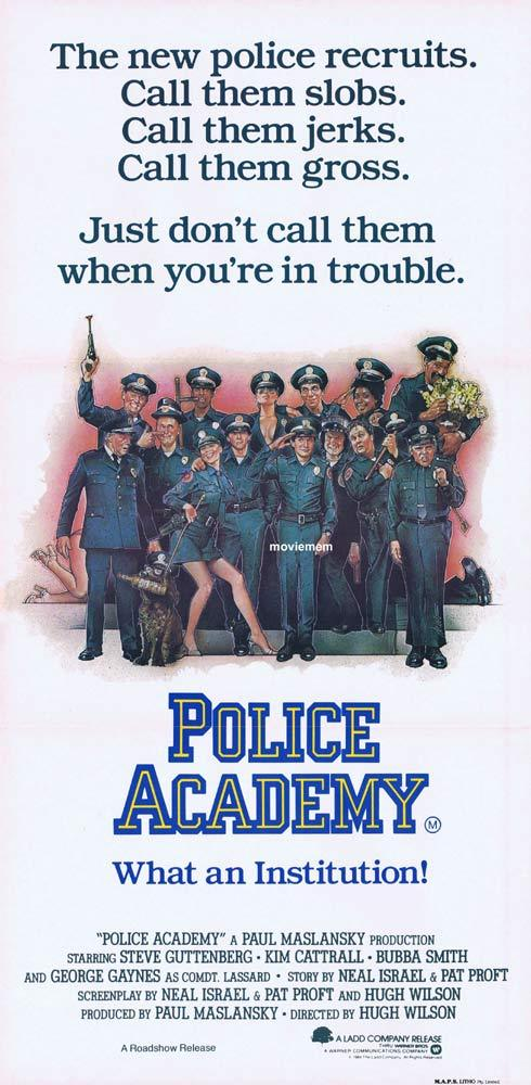 POLICE ACADEMY Original Daybill Movie poster Drew Struzan artwork