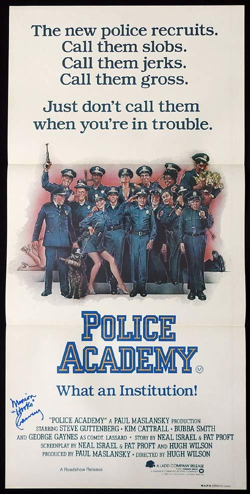 POLICE ACADEMY Original Daybill Movie poster MARION RAMSEY autograph