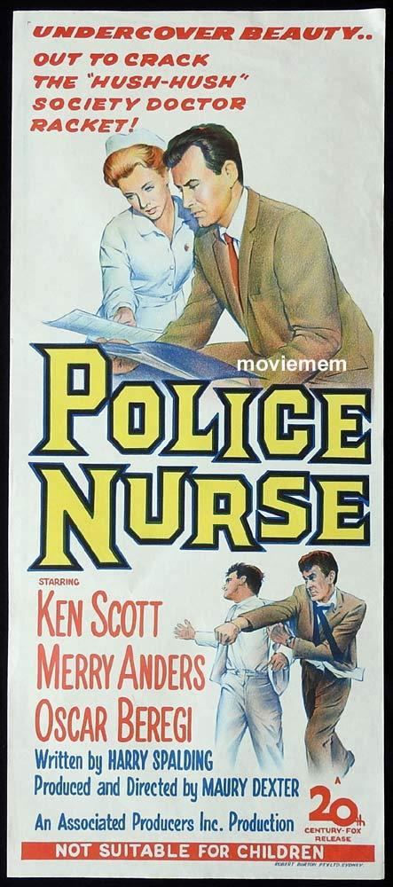 POLICE NURSE Original Daybill Movie Poster Ken Scott Merry Anders