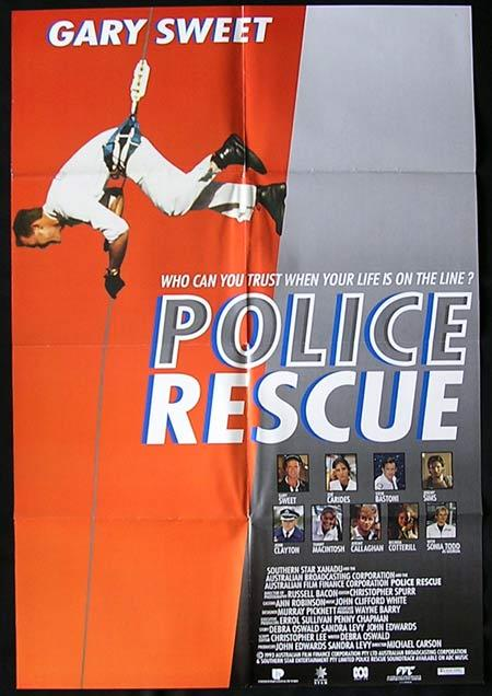 POLICE RESCUE 1994 Gary Sweet Rare One Sheet poster