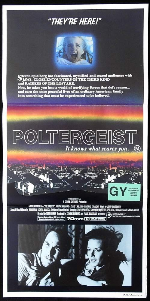 POLTERGEIST Original Daybill movie poster Craig T. Nelson JoBeth Williams