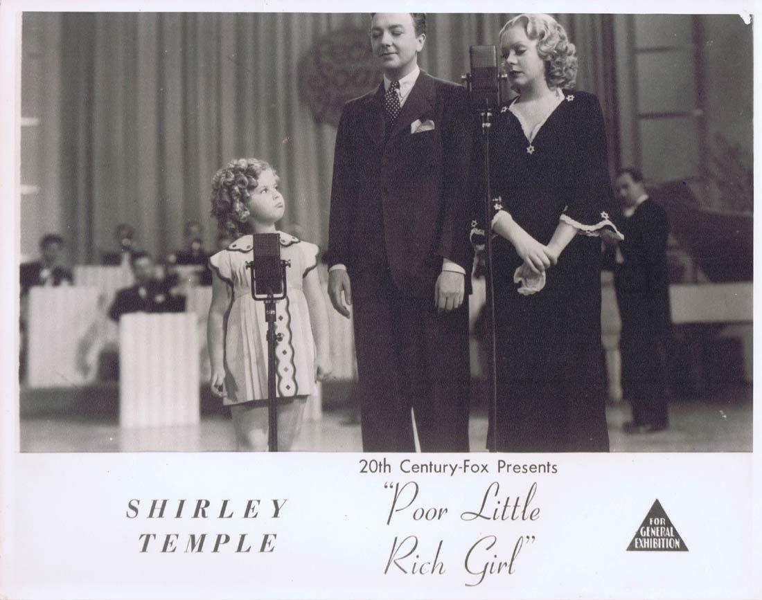 POOR LITTLE RICH GIRL Original Australian Lobby Card Shirley Temple1950sr