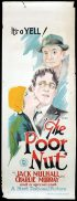 THE POOR NUT Long Daybill Movie poster 1927 Wynne W.Davies art