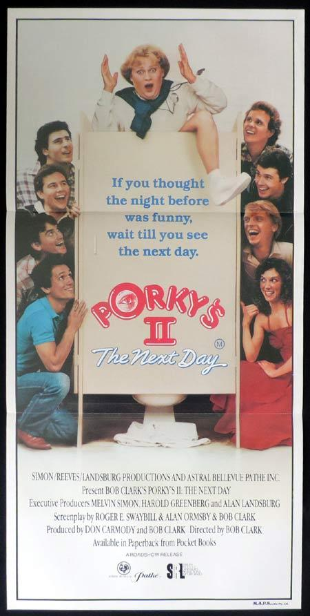 PORKYS 2 THE NEXT DAY Original Daybill Movie Poster Bob Clark