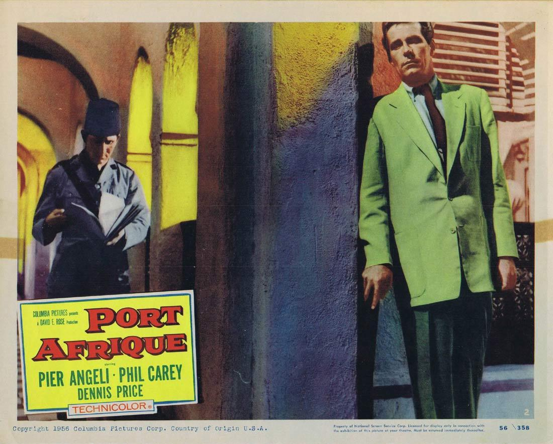 PORT AFRIQUE Lobby Card 2 Rudolph Maté Pier Angeli Dennis Price Phil Carey