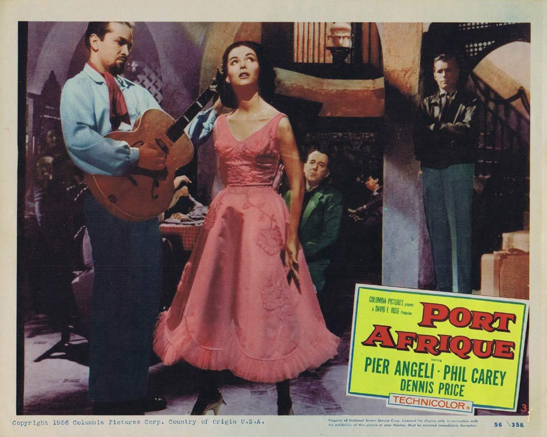 PORT AFRIQUE Lobby Card 3 Rudolph Maté Pier Angeli Dennis Price Phil Carey