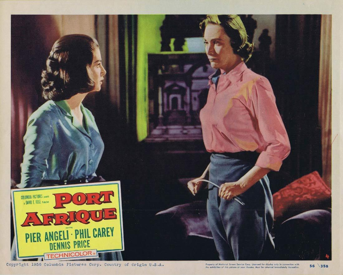 PORT AFRIQUE Lobby Card 4 Rudolph Maté Pier Angeli Dennis Price Phil Carey