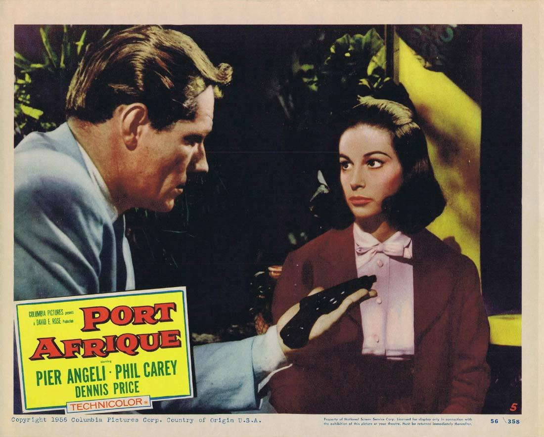 PORT AFRIQUE Lobby Card 5 Rudolph Maté Pier Angeli Dennis Price Phil Carey