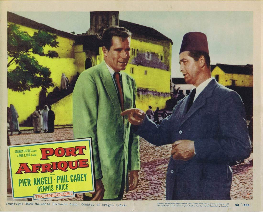 PORT AFRIQUE Lobby Card 6 Rudolph Maté Pier Angeli Dennis Price Phil Carey