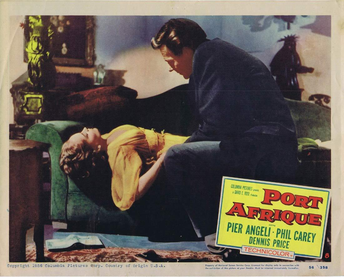 PORT AFRIQUE Lobby Card 8 Rudolph Maté Pier Angeli Dennis Price Phil Carey
