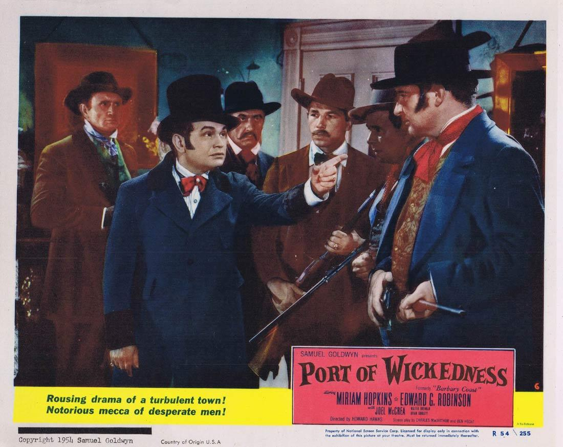 PORT OF WICKEDNESS Lobby Card 6 Miriam Hopkins Edward G. Robinson Joel McCrea 1954r