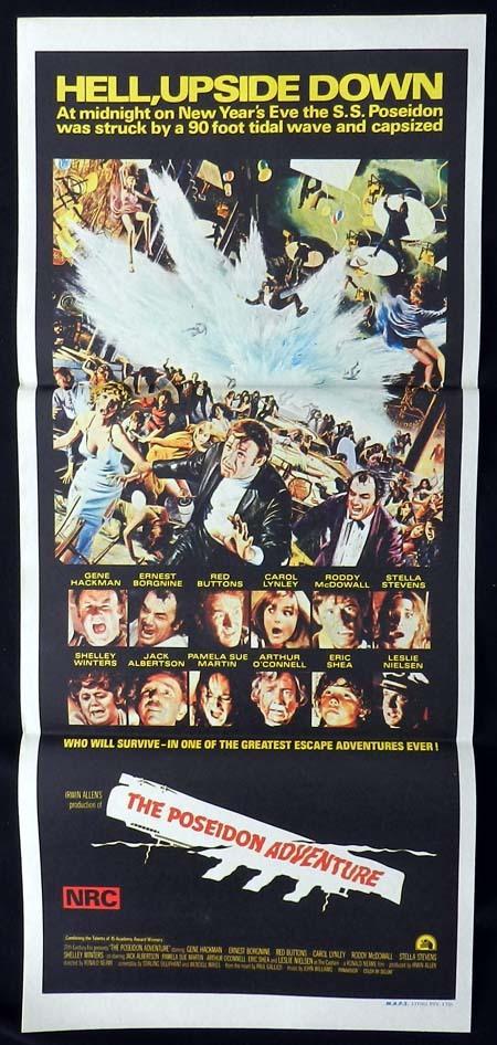 THE POSEIDON ADVENTURE Original Daybill Movie poster Irwin Allen Disaster