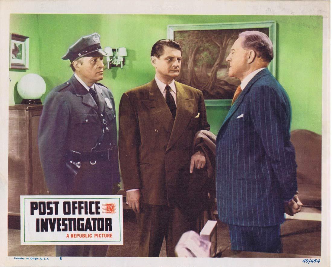 POST OFFICE INVESTIGATOR Original Lobby card Warren Douglas