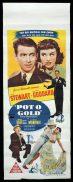 POT O' GOLD Original Daybill Movie Poster James Stewart Paulette Goddard