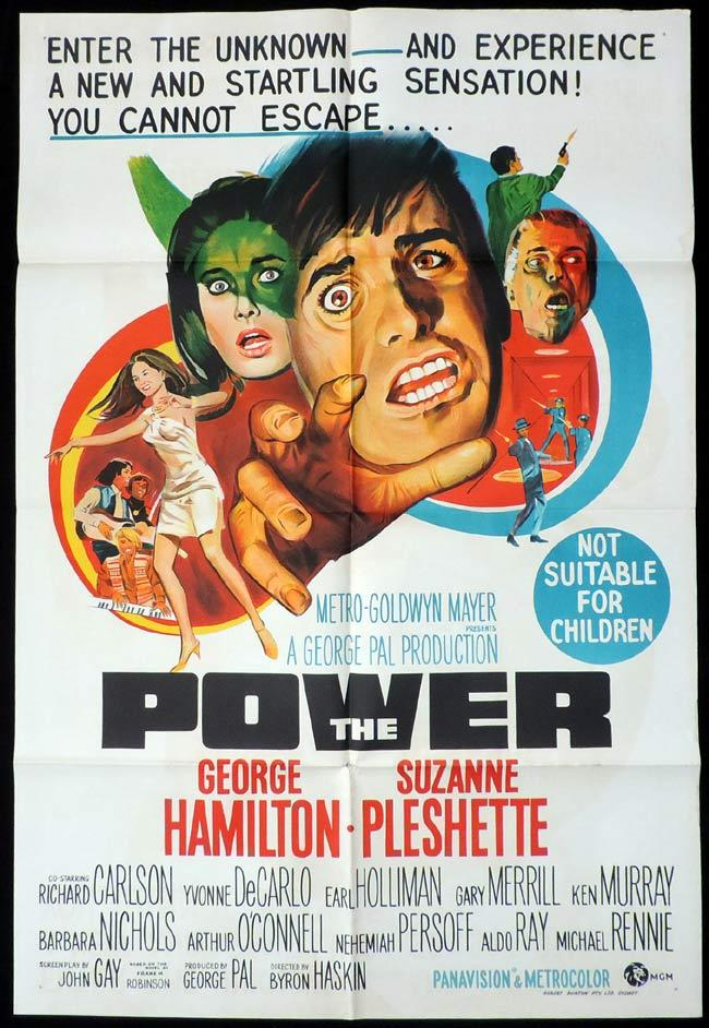 THE POWER One Sheet Movie Poster George Hamilton Sci Fi