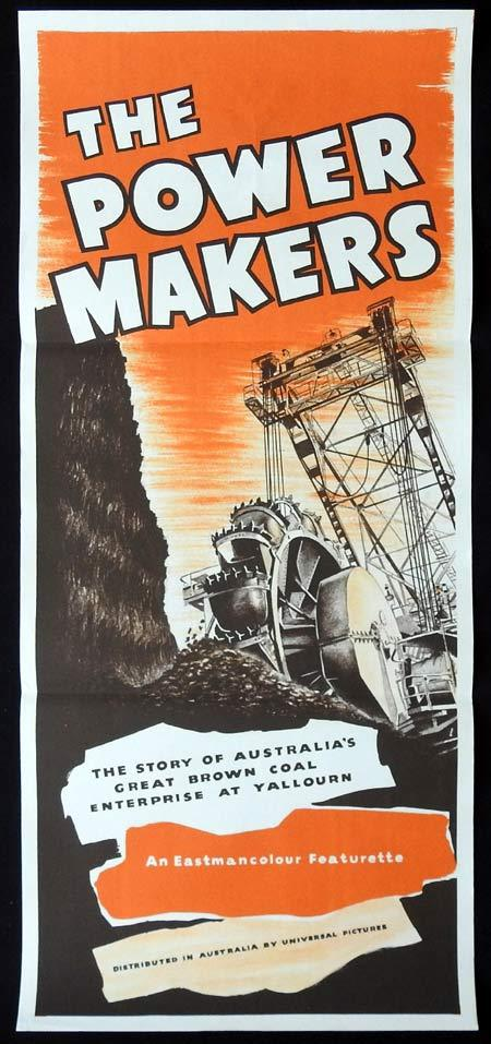 THE POWER MAKERS Original Daybill Movie Poster Lee Robinson 1957