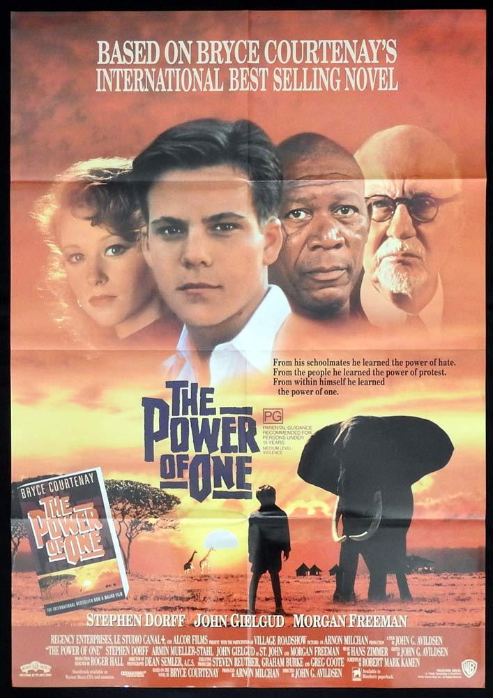 THE POWER OF ONE Original One sheet Movie poster Stephen Dorff Morgan Freeman
