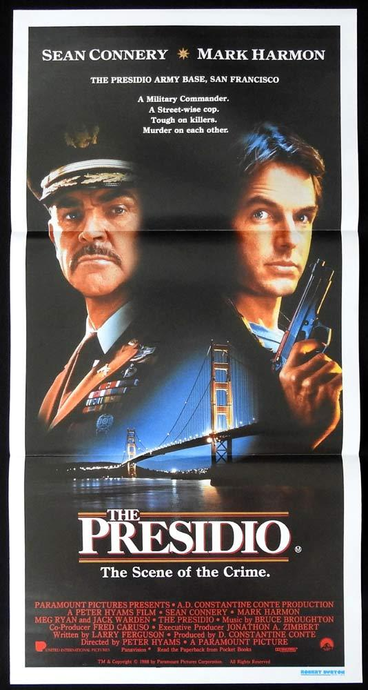 THE PRESIDIO Original Daybill Movie poster SEAN CONNERY Mark Harmon