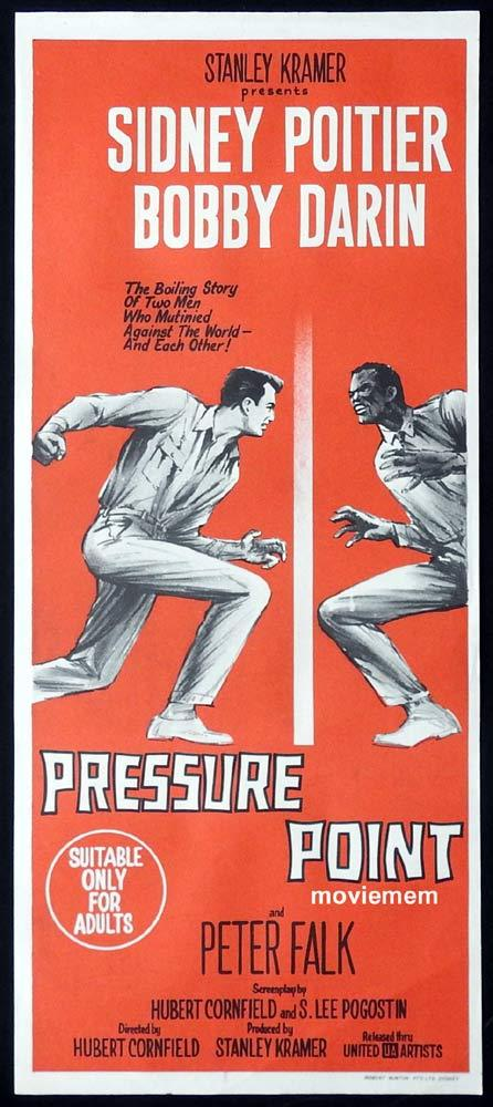 PRESSURE POINT Original Daybill Movie Poster Bobby Darin Sidney Poitier