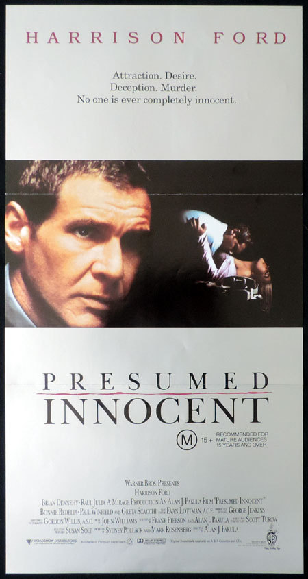 PRESUMED INNOCENT Australian Daybill Movie Poster Harrison Ford