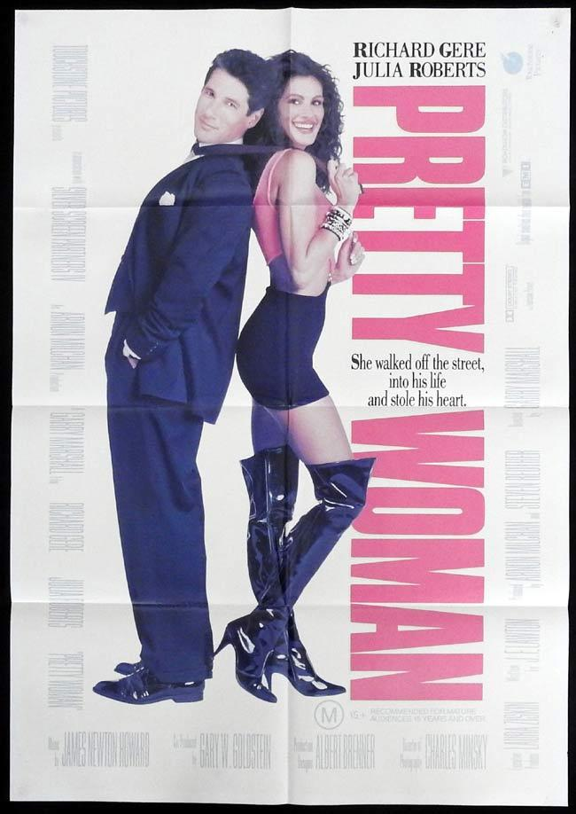 PRETTY WOMAN Original One sheet Movie Poster JULIA ROBERTS RIchard Gere