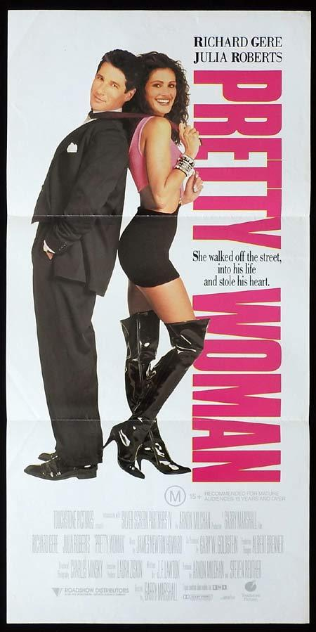 PRETTY WOMAN Original Daybill Movie Poster Julia Roberts Richard Gere