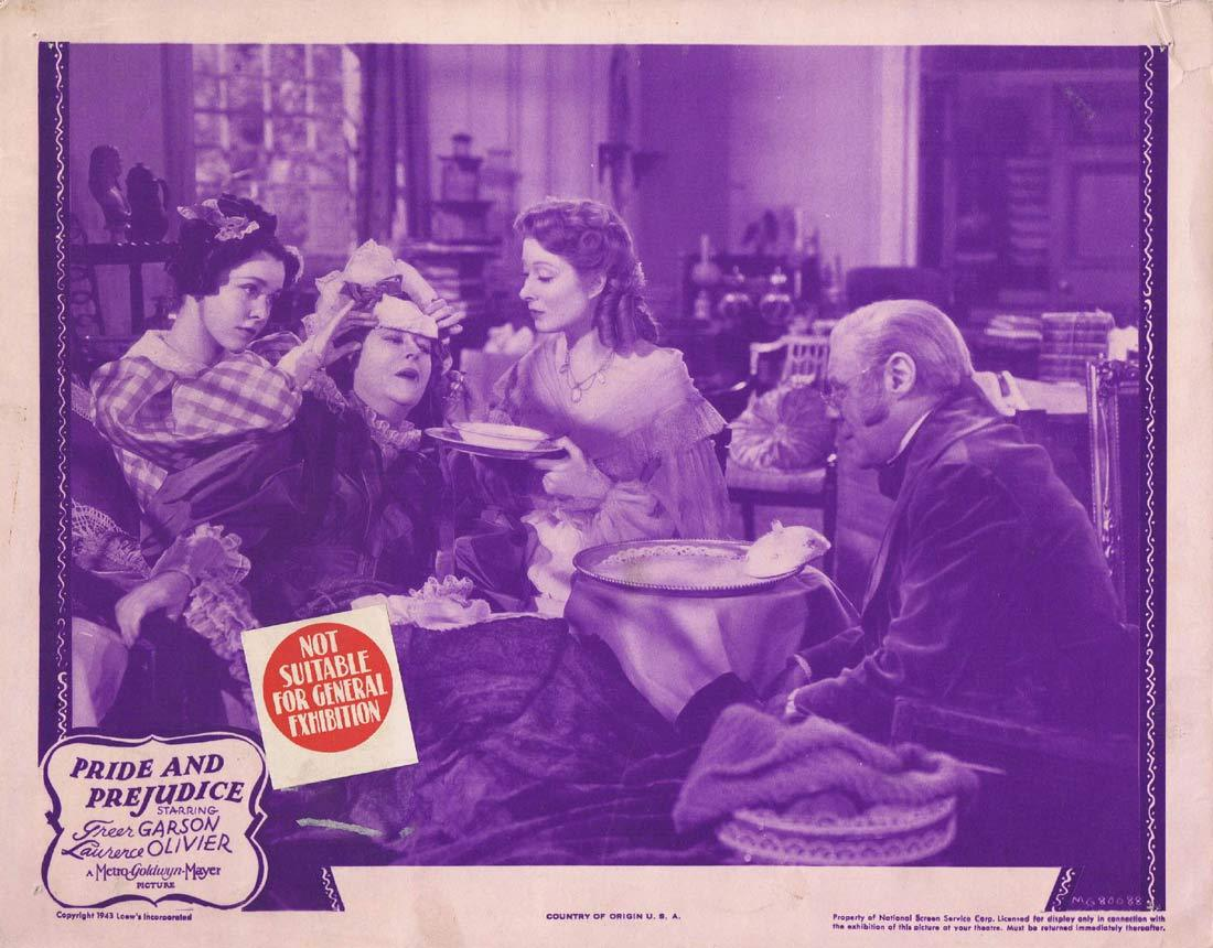 PRIDE AND PREJUDICE Original 1943r Lobby Card 4 Greer Garson Laurence Olivier
