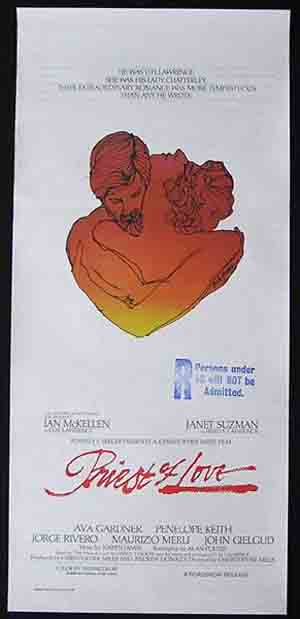 PRIEST OF LOVE Daybill Movie Poster 1981 Ian MacKellan