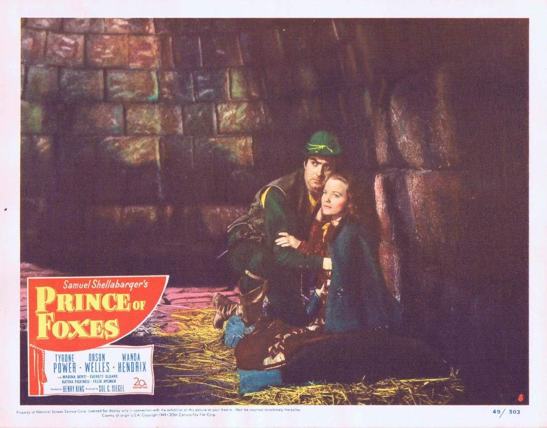 PRINCE OF FOXES Lobby Card 5 Tyrone Power Orson Welles