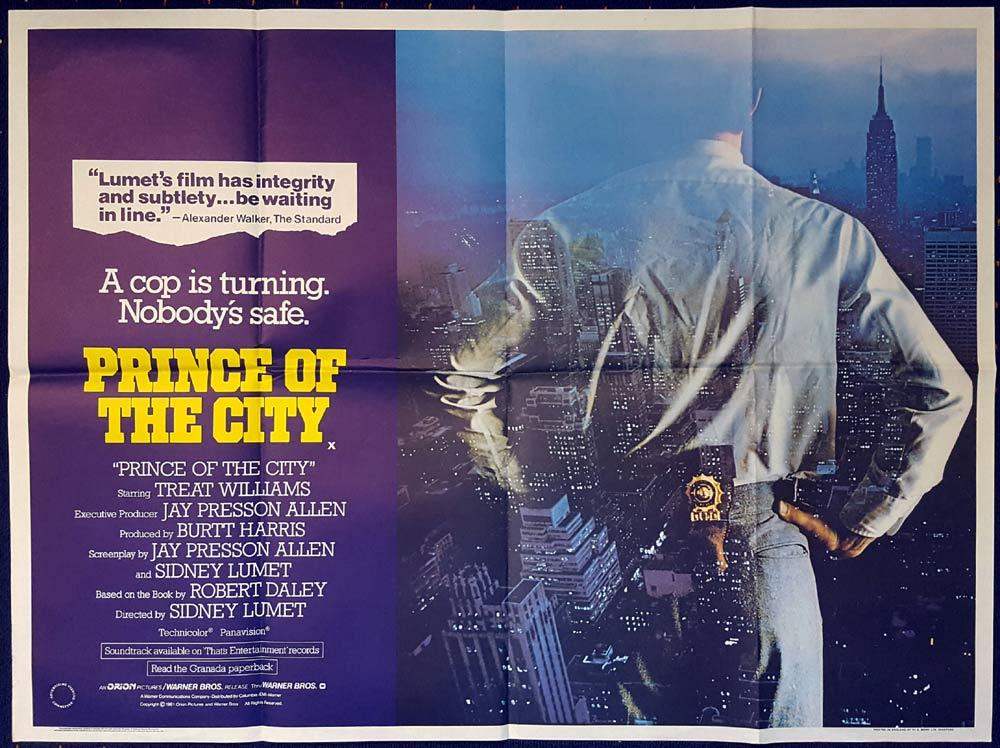 PRINCE OF THE CITY Original British Quad poster Treat Williams New York Cop