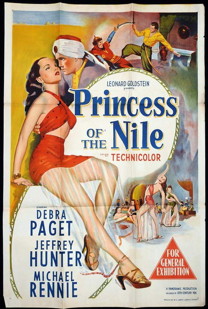 PRINCESS OF THE NILE Original One sheet Movie poster Debra Paget Jeffrey Hunter